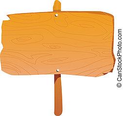 tablero de madera, señal