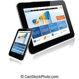 Tablet PC y teléfono inteligente
