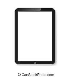 Tableta con pantalla en blanco.
