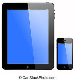 Tableta de PC y teléfono inteligente