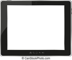 Tableta genérica negra en blanco