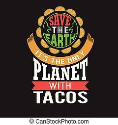 Tacos Cito y dice bueno para el diseño de huellas