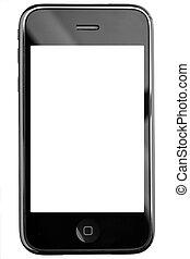 tacto, teléfono, pantalla, moderno