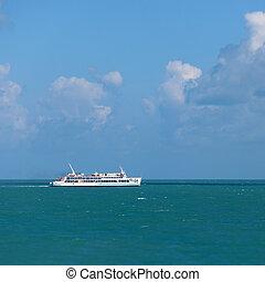 tailandia, -, mar, va, transbordador