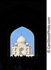 Taj Mahal en la India