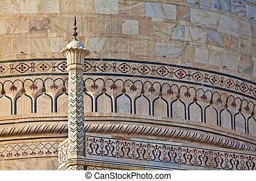 Taj Mahal localizado en el Agra 17