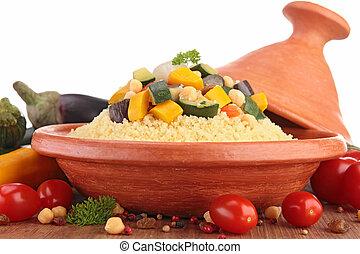 Tajine con couscous vegetariano