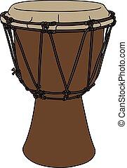 tambor, pequeño, ethno