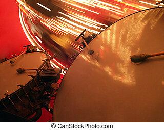 Tambores grandes con carrusel