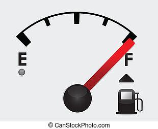 Tanque de gasolina completo