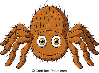 tarántula, lindo, caricatura, araña