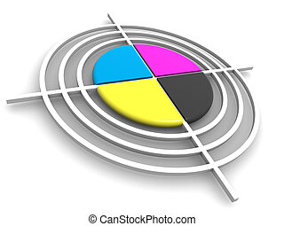 target., cmyk, polygraphic