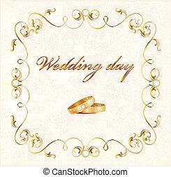 tarjeta, boda