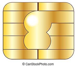 tarjeta, credito, astilla