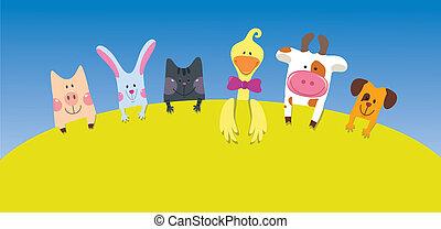 Tarjeta de animales de granja
