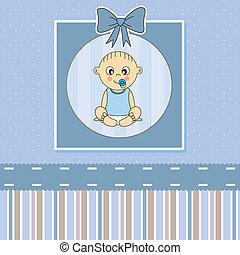 Tarjeta de aviso de llegada del bebé.