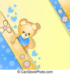Tarjeta de baño de bebé azul