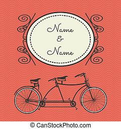 Tarjeta de bicicleta retro