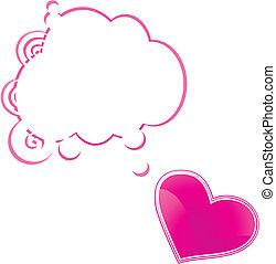 Tarjeta de corazón y habla
