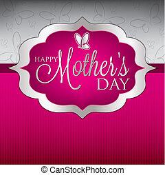 Tarjeta de día de la madre elegante en formato vectorial.