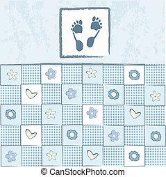 Tarjeta de ducha de bebé