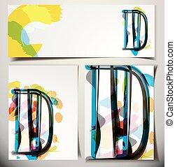 Tarjeta de felicitación artística D