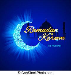 Tarjeta de felicitación del Santo Musulmán Ramadan