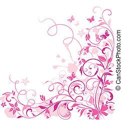 Tarjeta de felicitación floral