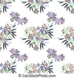 Tarjeta de felicitación: Lily Rosa y Violet Arabis arreglo floral