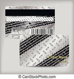 Tarjeta de fidelidad con placas metálicas