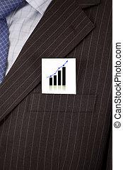Tarjeta de gráficos de negocios