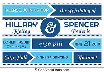 Tarjeta de invitación de boda en vector