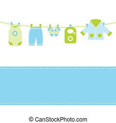 Tarjeta de llegada de bebé