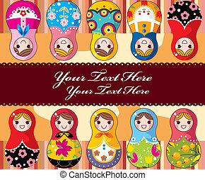 Tarjeta de muñeca rusa
