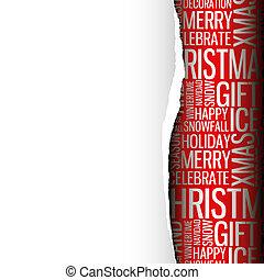 Tarjeta de Navidad abstracta