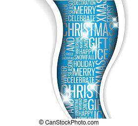 Tarjeta de Navidad abstracta del vector. Palabras de temporada