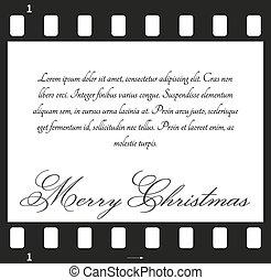 Tarjeta de Navidad con película