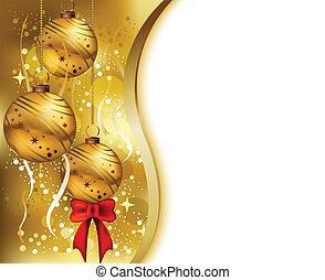 Tarjeta de Navidad de belleza