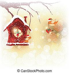 Tarjeta de Navidad Robin Bird envía saludos
