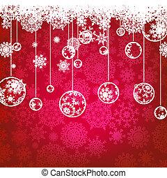 Tarjeta de Navidad, vacaciones de invierno. EPS 8