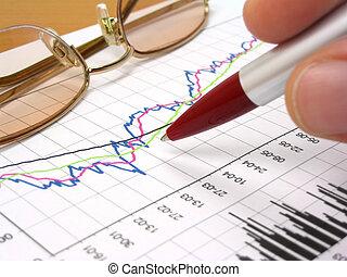 Tarjeta de negocios, vasos y bolígrafo