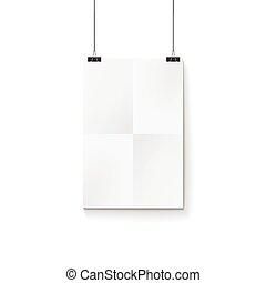 Tarjeta de papel en la pared blanca