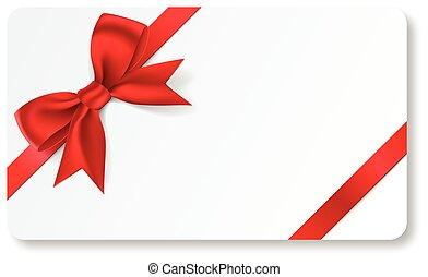 Tarjeta de regalo con cinta roja