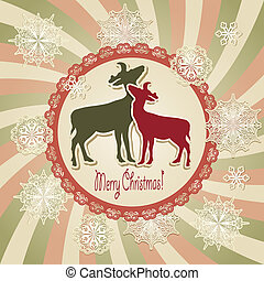 Tarjeta de regalo de Navidad de Vector