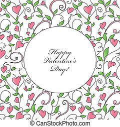 Tarjeta de San Valentín con adorno de corazones