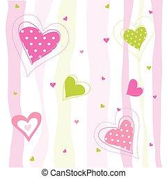 Tarjeta de San Valentín, corazones