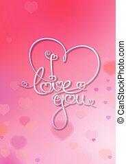 Tarjeta de San Valentín, te quiero, rosa