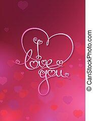 Tarjeta de San Valentín, te quiero, Ruby