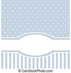 Tarjeta de vector azul o invitación