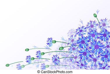 Tarjeta de vector Horizontal con botellas azules